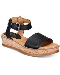 Lucca Lane - Kameron Platform Wedge Sandals - Lyst