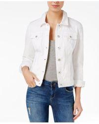Maison Jules - Long-sleeve White Wash Denim Jacket - Lyst