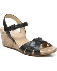 Naturalizer Adelina Wedge Sandals - Black