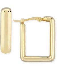Macy's Square Hoop Earrings Set In 14k Yellow Gold - Metallic