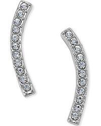 Danori - Silver-tone Pavé East-west Earrings - Lyst