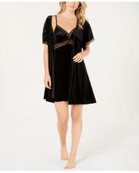 Linea Donatella - Sets To Go Velvet Chemise & Wrap Robe - Lyst