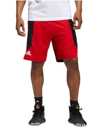 adidas C365 Contrast Colour Basketball Shorts - Red