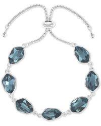 Style & Co. Stone Slider Bracelet, Created For Macy's - Blue
