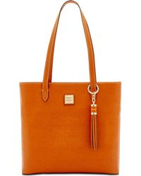 Dooney & Bourke Hadley Coated Leather Tote - Natural