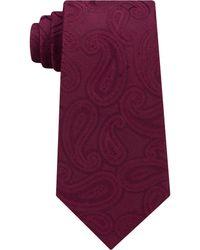 Michael Kors - Men's Unsolid Solid Paisley Silk Tie - Lyst