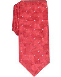 Alfani Geometric Dot Tie, Created For Macy's - Red