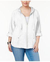 Style & Co. - Plus Size Zip Hooded Jacket - Lyst