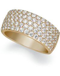 Macy's - Arabella Sterling Silver Ring, Swarovski Zirconia Pave Band - Lyst