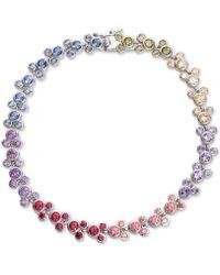 Disney Cubic Zirconia Mickey Mouse Tennis Bracelet In Sterling Silver - Metallic