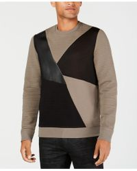 INC International Concepts - Colorblocked Mixed Media Jumper, Created For Macy's - Lyst