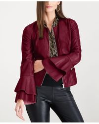 INC International Concepts - I.n.c. Ruffle-sleeve Faux-leather Jacket, Created For Macy's - Lyst