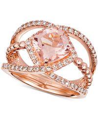 Le Vian - ® Peach Morganite (1-5/8 Ct. T.w.) & Diamond (3/8 Ct. T.w.) In 14k Rose Gold - Lyst