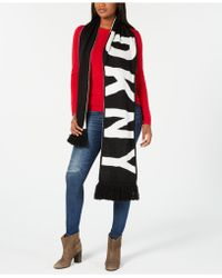 DKNY - Bold Logo Fringe Scarf, Created For Macy's - Lyst