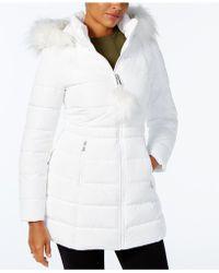 INC International Concepts - Faux-fur-trim Puffer Coat - Lyst