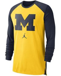 16d4ee1236d634 Nike - Michigan Wolverines Breathe Shooter Long Sleeve T-shirt - Lyst