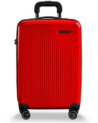 "Briggs & Riley Sympatico Domestic 20"" Hardside Carry-on Spinner - Red"
