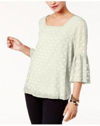 Alfani | Ruffled-sleeve Top | Lyst
