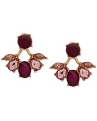 Lonna & Lilly - Gold-tone Multi-stone Front & Back Earrings - Lyst