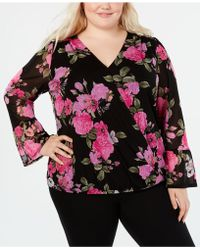 ca449a60837 Lyst - INC International Concepts I.n.c. Plus Size Printed Blouse ...