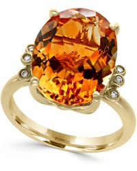 Effy Collection - Citrine (8 Ct. T.w.) And Diamond Accent Ring In 14k Gold - Lyst