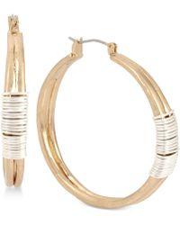 Robert Lee Morris - Two-tone Wire-wrapped Hoop Earrings - Lyst
