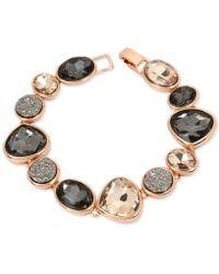 Kenneth Cole | Rose Gold-tone Multi-stone Flex Bracelet | Lyst