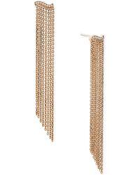 Michael Kors - Rose Gold-tone Wavy Fringe Drop Earrings - Lyst