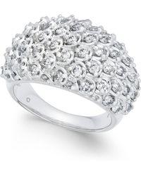 Macy's - Diamond Cluster Bubble Ring (1-1/2 Ct. T.w.) In 14k White Gold - Lyst
