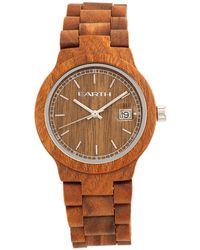 Earth Wood - Biscayne Wood Bracelet Watch W/date Olive 38mm - Lyst