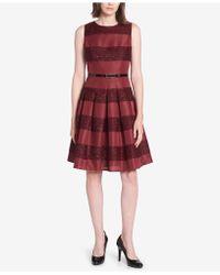 Tommy Hilfiger - Striped Fit & Flare Dress - Lyst