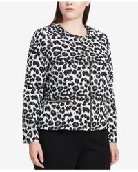 Calvin Klein   Plus Size Animal-print Blazer   Lyst
