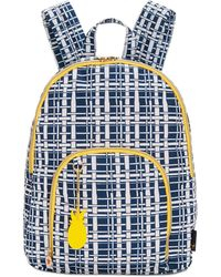 Macy's Large Printed Backpack - Blue