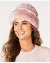 Nine West Faux-fur Cuff Cloche - Pink