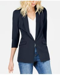 INC International Concepts Petite Menswear Blazer, Created For Macy's - Blue