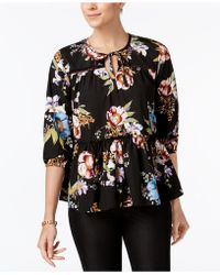 Olivia & Grace - Printed Peasant Top - Lyst
