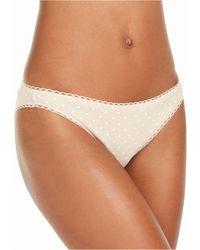 Charter Club Pretty Cotton Bikini Underwear, Created For Macy's - Brown
