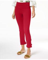 INC International Concepts - I.n.c. Curvy Ruffled-hem Ankle Skinny Pants, Created For Macy's - Lyst