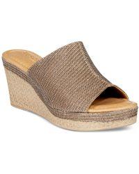 Easy Street Octavia Wedge Sandals - Multicolour