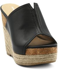 Adrienne Vittadini Cherli Platform Wedge Sandals - Black