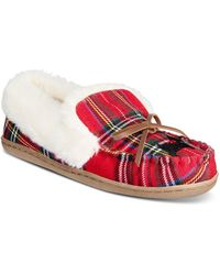 Charter Club Dorenda Moccasin Slippers, Created For Macy's - Red