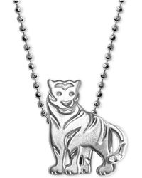 """Alex Woo - Mini Tiger 16"""" Pendant Necklace In Sterling Silver - Lyst"""