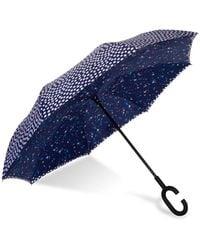 Shedrain Unbelievabrella Reversible Dual-print Umbrella - Blue