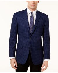 Vince Camuto - Men's Slim-fit Blue Check Sport Coat - Lyst