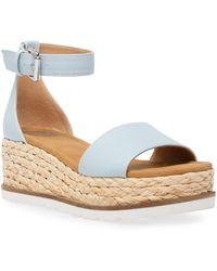 DV by Dolce Vita Baker Flatform Treaded Sandals - Blue