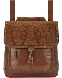 The Sak - Ventura Embossed Leather Convertible Medium Backpack - Lyst