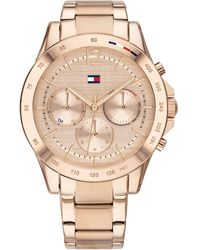 Tommy Hilfiger Chronograph Carnation Gold-tone Stainless Steel Bracelet Watch 38mm, Created For Macy's - Metallic