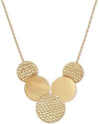 Macy's - Multi-disc Statement Necklace In 10k Gold - Lyst