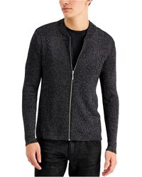 INC International Concepts Metallic Ribbed-knit Full-zip Cardigan, Created For Macy's - Multicolor