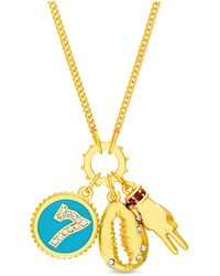 Steve Madden Lucky Charms Chain Necklace - Metallic